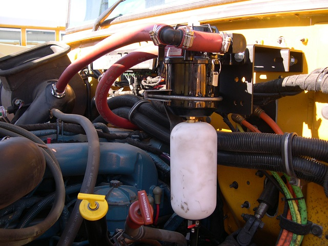 A Crankcase Ventilation Filter System has been installed on this Nevada school bus.