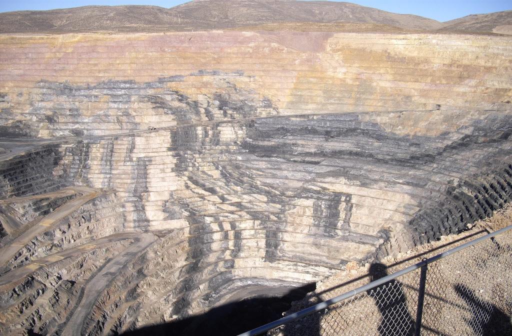 Large mine pit.