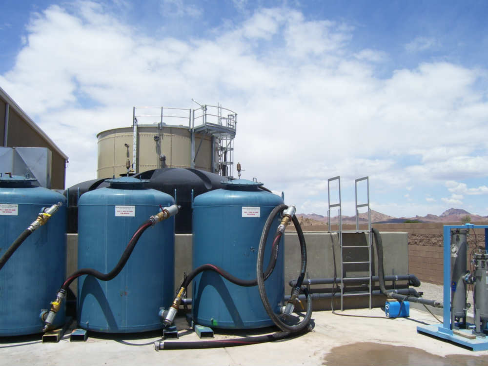 The in situ bioremediation (ISB) system used for the treatment of perchlorate-impacted groundwater prior to implementation of the current groundwater treatment system.  The ISB system was operated from 2006 through 2012 and removed more than 50,000 pounds of perchlorate from groundwater during that time period.