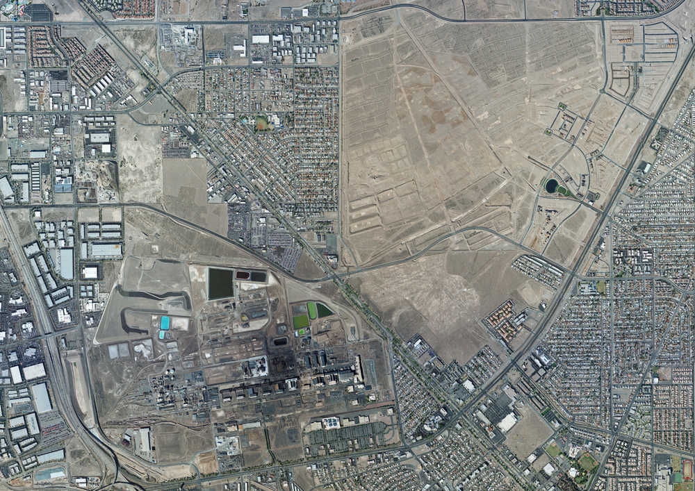 The BMI Complex is located near Henderson, Nevada, southwest of the intersection of Warm Springs Road and Boulder Highway.