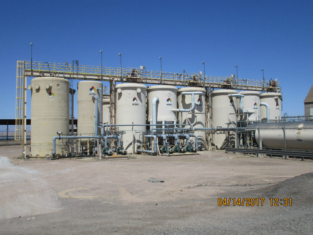 Some of the major components of NERT's groundwater treatment system include fluidized bed reactors, media separators, and an above-ground ethanol storage tank.