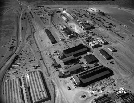 1943-02-15 Aerial view of the chlorine plant buildings at BMI.